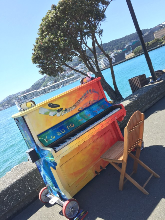 Harbor piano for all to play