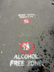 No Alcohol Zone