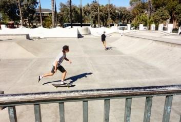 Skate ramp on the beach