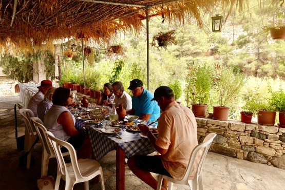Al Fresco lunch in Cyprus