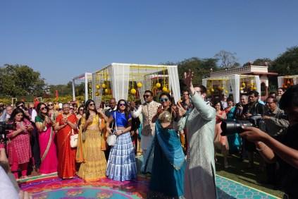 Dancing at the Mehendi