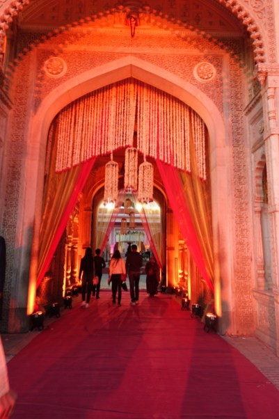 Entrance to Jaipur City Palace during wedding