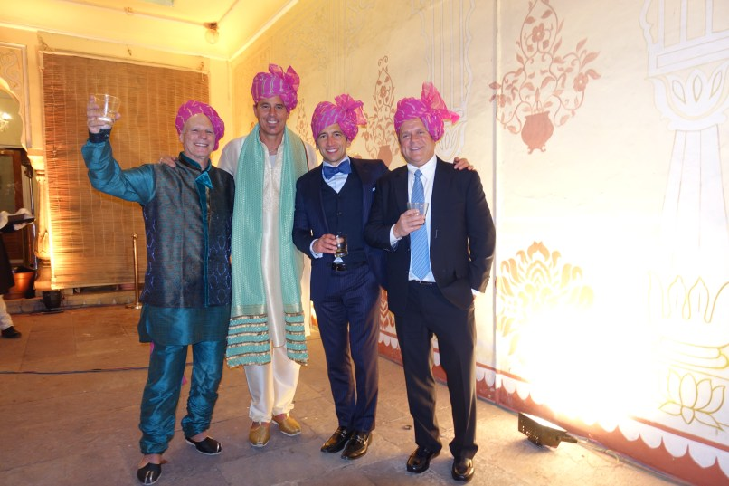 Men in turbans at Indian wedding in Jaipur