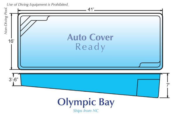 In Ground Fiberglass Swimming Pool Shell for Sale in Michigan Olympic Bay 01