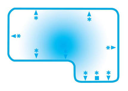 Full-L-2ft-radius-Blue Hawaiian Pools of Michigan Image