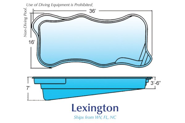 InGround Fiberglass Swimming Pool Shell for Sale in Michigan Lexington