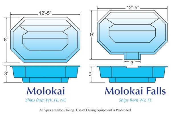 In Ground Fiberglass Swimming Pool Shell for Sale in Michigan Molokai