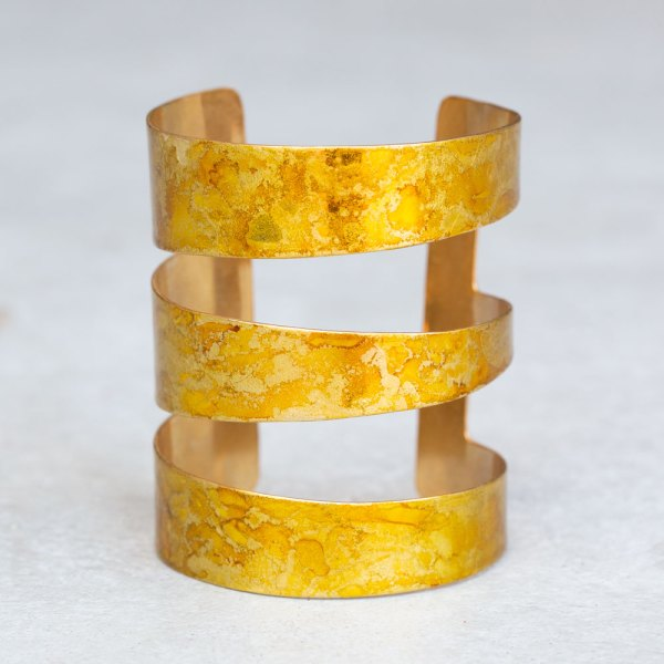 Gold Angle Cuff front view.