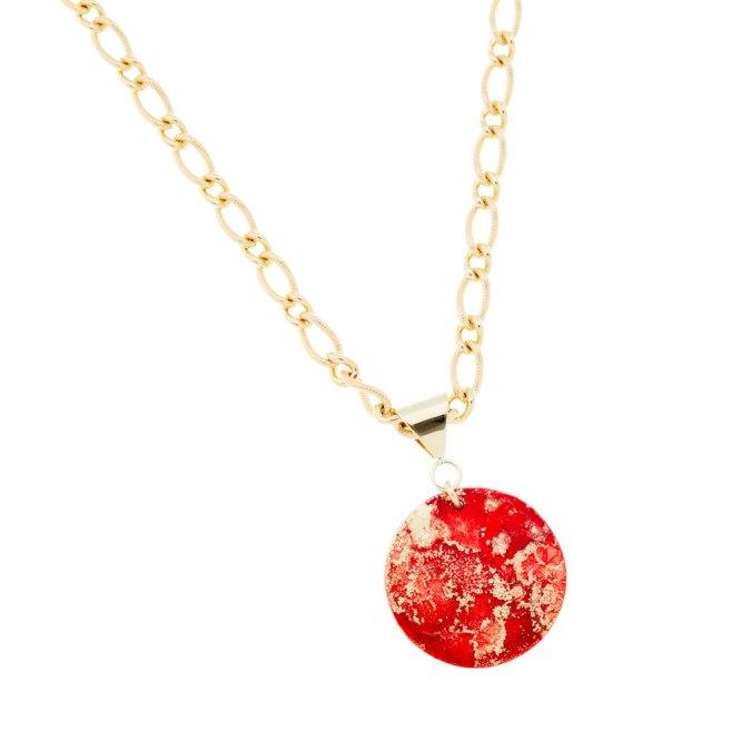 Fire Bold Pendant Necklace