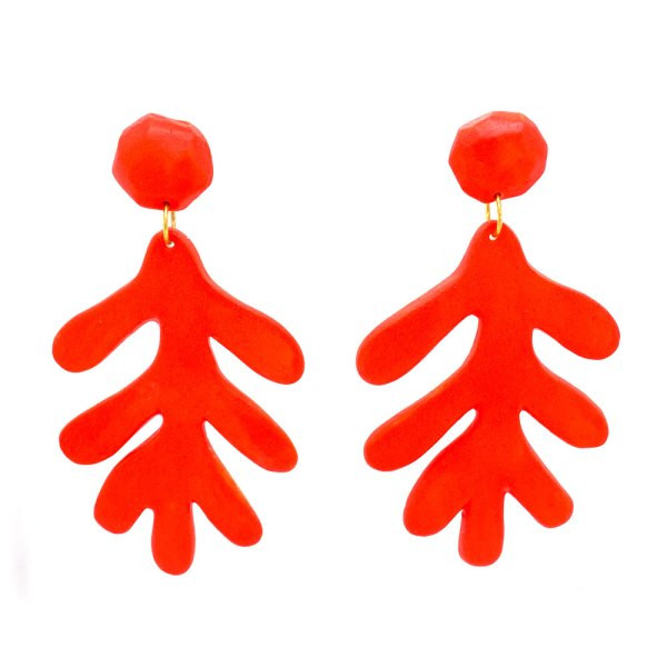 Photo of the Coral Porcelain Earrings by Heather Jane Smith