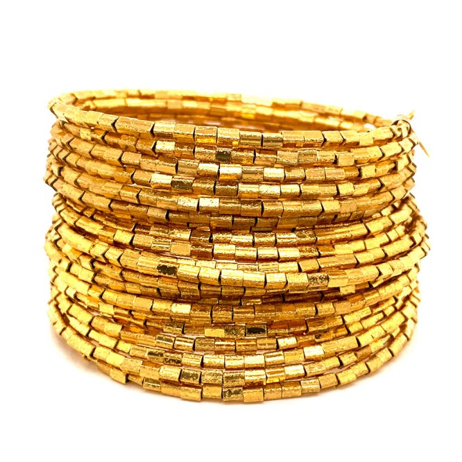 Yellow Gold Plated 20 Row Links Bracelet