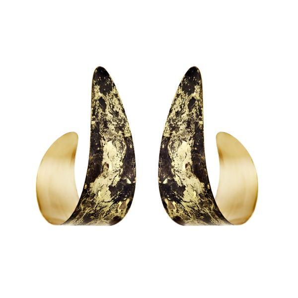 Black & Gold Serpent Earrings
