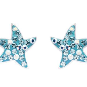 Aqua Star Fish Stud Earrings