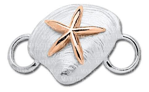 Clam Convertible Clasp with Rose Gold Starfish