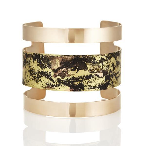 Black & Gold Parallel Cuff