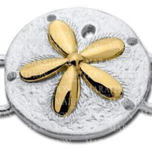 Sand Dollar Convertible Clasp with Yellow Gold Accent