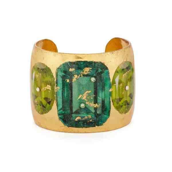 Emerald & Peridot Cuff