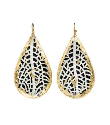 Large Chantal Teardrop Earrings