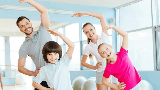 family exercising