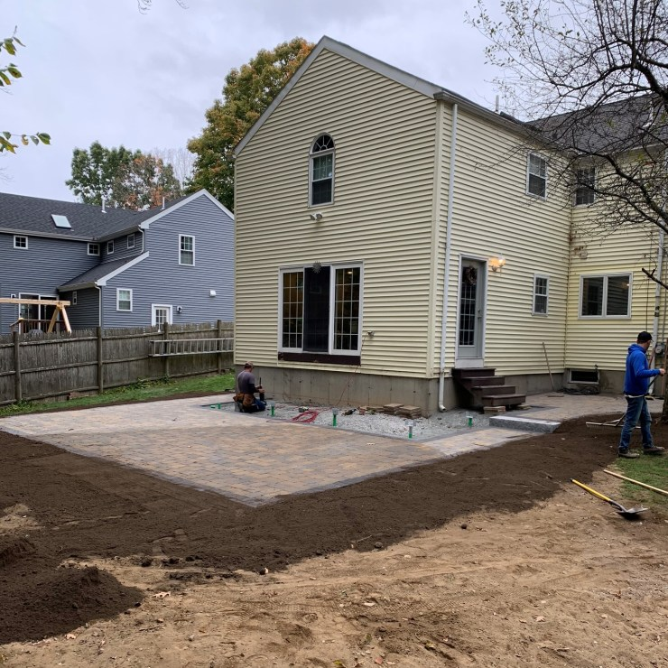 Installation of New Brick Patio