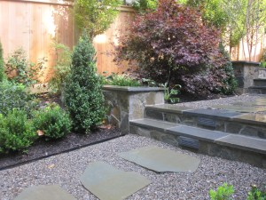 Photo of stone steps and patio
