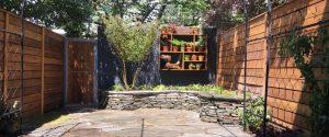Photo of back patio garden