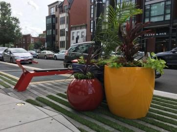 Bold Planters add Greenery