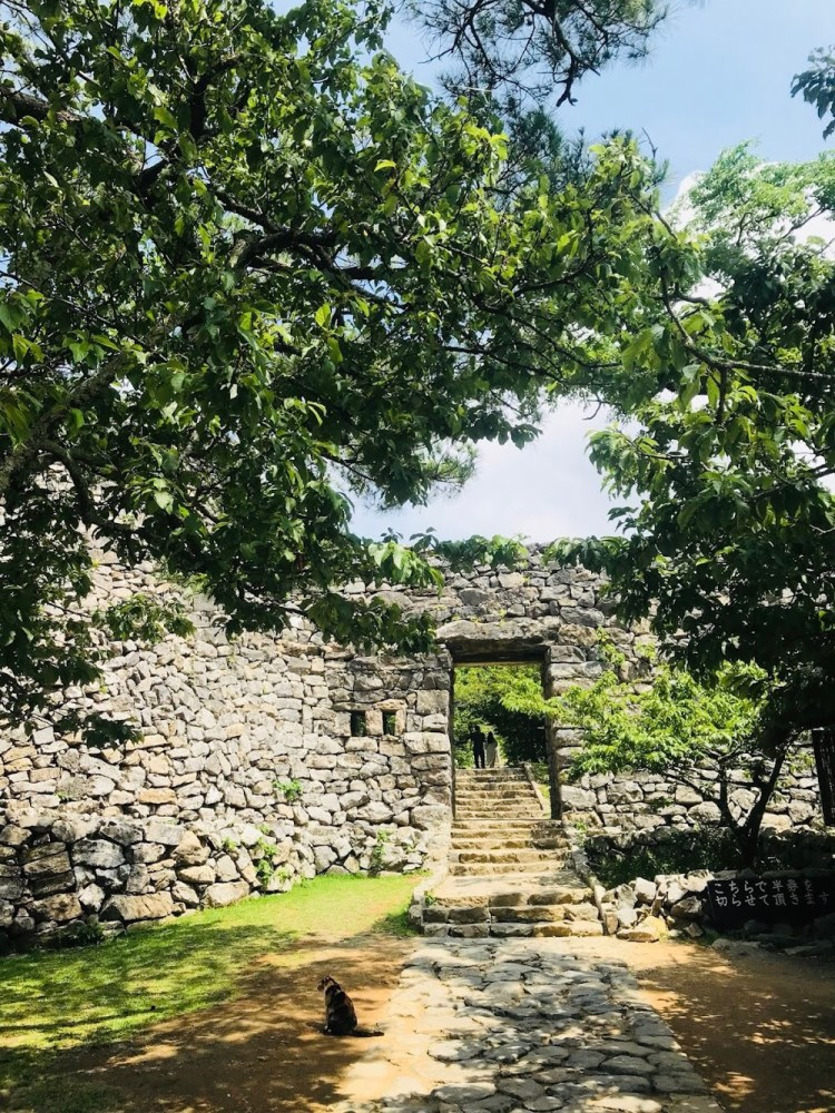 今帰仁城址の入り口。An entrance of Nakijin Castle Site