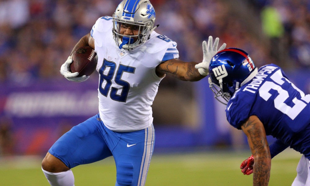 Eric Ebron: Lands deal in Indy