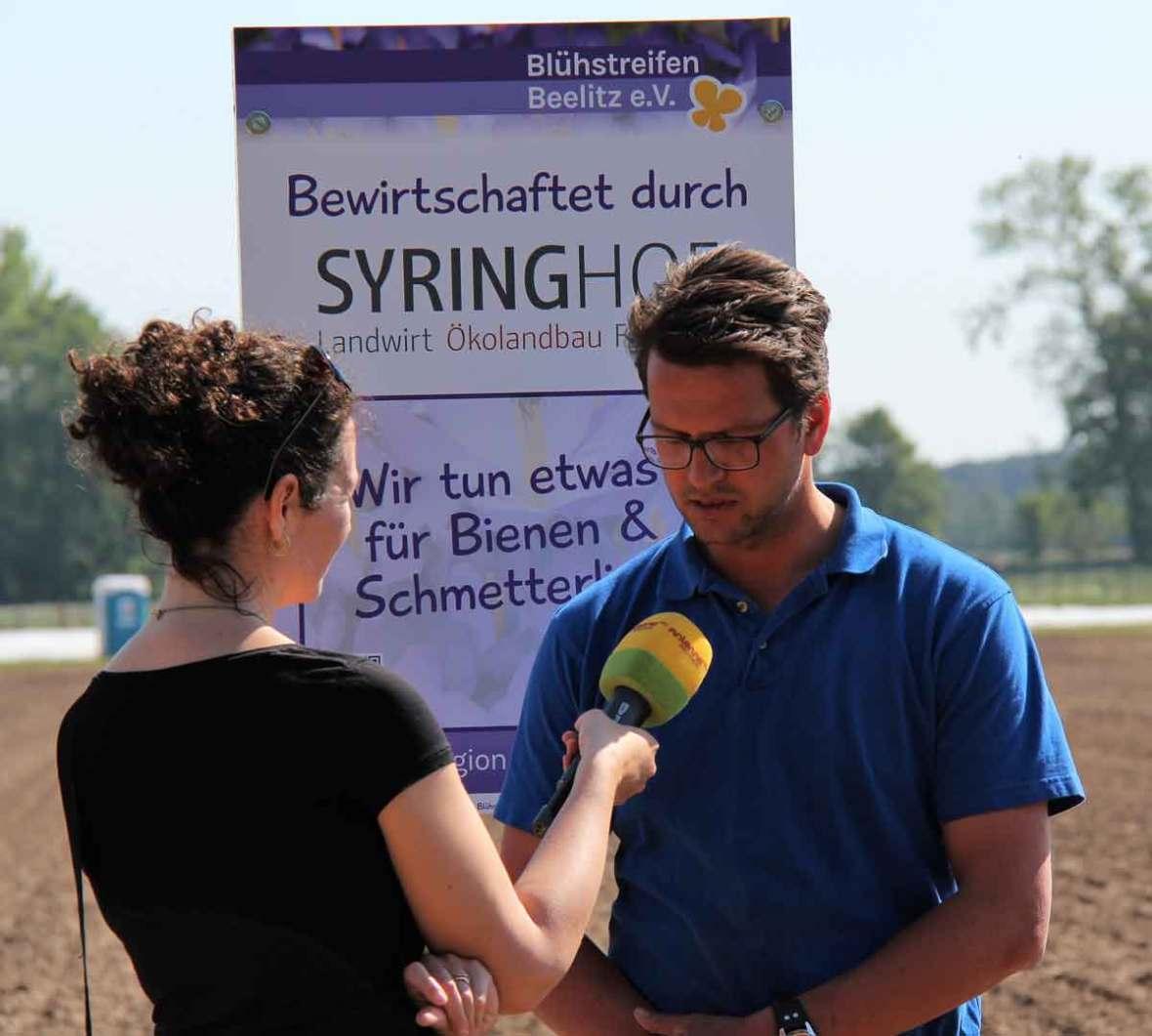 Interview beim Projektpartner Syringhof