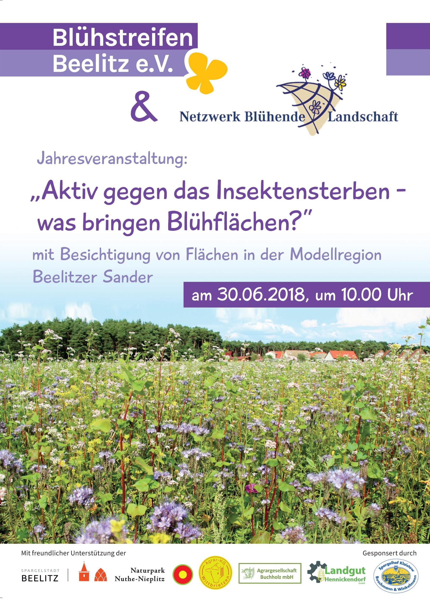 Jahresveranstaltung 2018 Was bringen Blühflächen