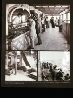 A few photographs displayed on the top floor of Eiffel Tower