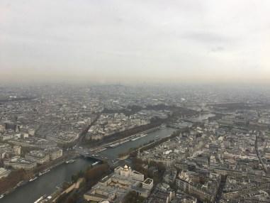 Seine River meanders through Paris