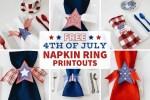 Celebrating July 4th in 2020 - DIY Star Napkin Rings