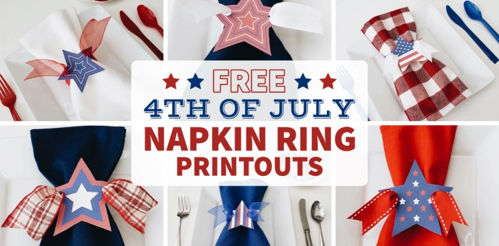 Celebrating July 4th in 2020 – DIY Star Napkin Rings