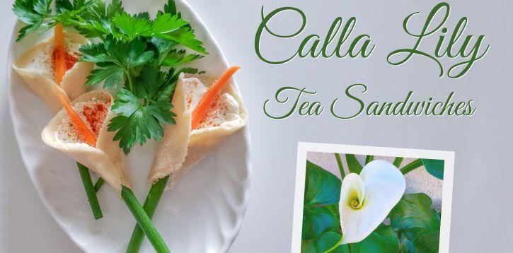 Calla Lily Tea Sandwich