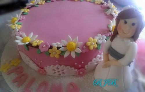 Flower crown cake. Orange and white chocolate