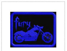 FFurySilhBlueBLKPtch