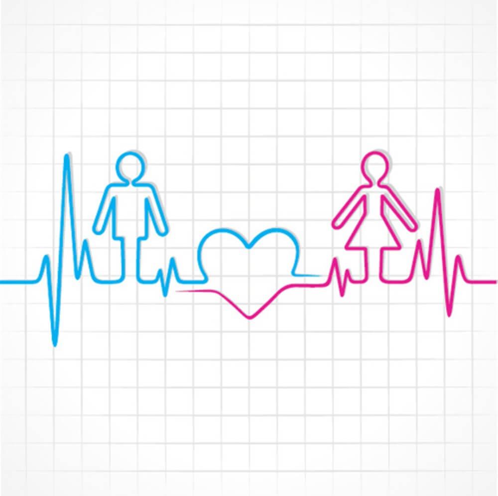 male female heartbeat