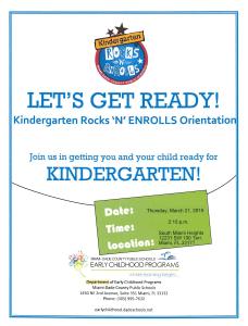 Kindergarten Rocks Flyer Page 1