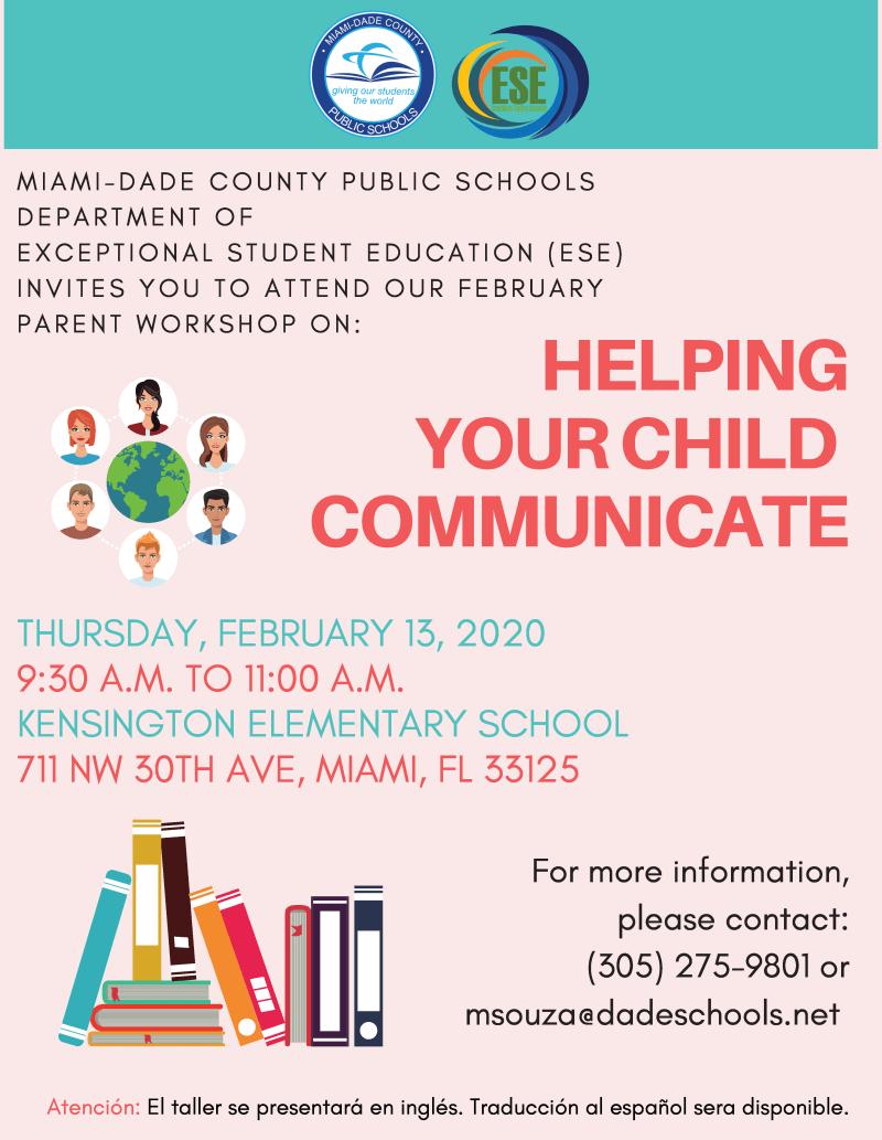 parent workshop flyer