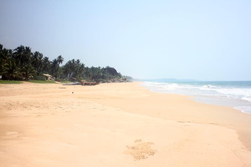 Beach North of Hikkaduwwa