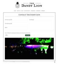 Festival Website Design - The dandy Lion Cafe - Contact Form