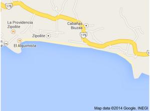 Google map Zipolite