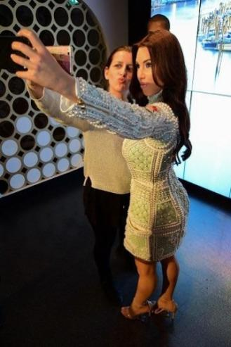 With KimK in Madame Tussauds Museum