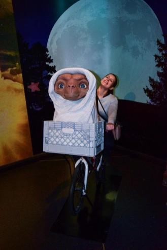 With ET in Madame Tussauds Museum