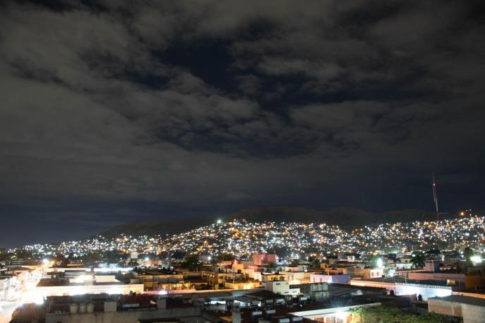 Oaxaca at night - view from the rooftop (what to do in Oaxaca)
