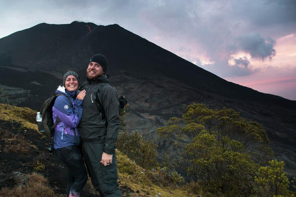 At active Pacaya volcano - an awesome and cheap experience, which will not hurt your Guatemala travel budget