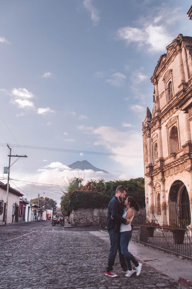 In Antigua there are several building which are a striking reminder of the power volcanoes have