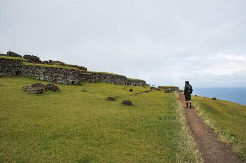 Ostanki ceremonialne vasi na Velikonočnem otoku